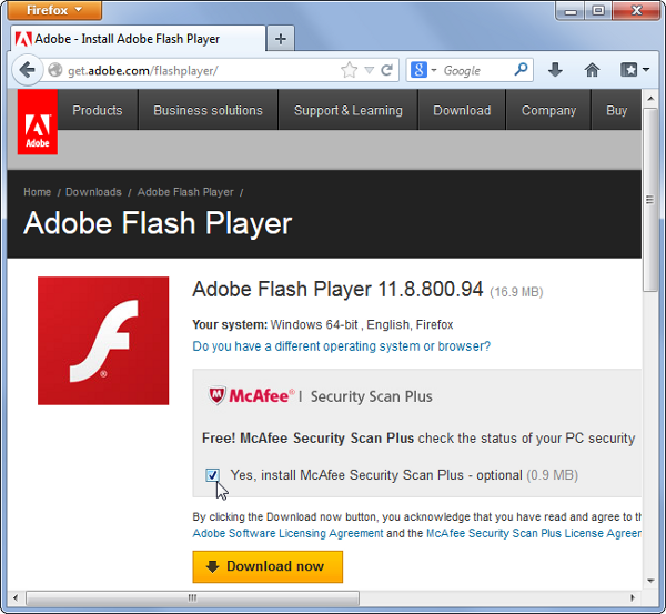 [Image: flash-mcafee-junk.png]